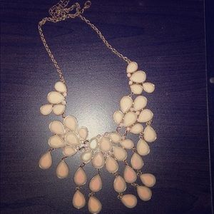 Blush pink & gold necklace